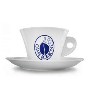 Tazza cappuccino porcellana con logo caffè Borbone